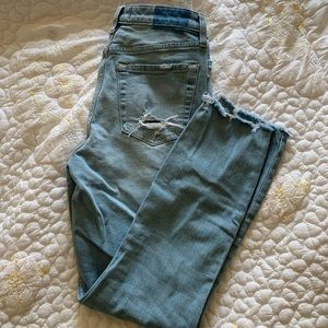 Abercrombie high-rise, light wash, slim jeans